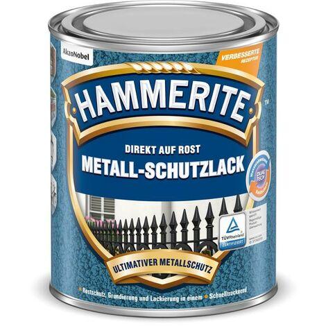 HAMMERITE Metallschutz-Lack Hammerschlag Schwarz 250ml - 5087620