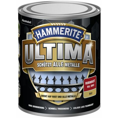 HAMMERITE Metallschutz-Lack ULTIMA Rubinrot Matt 750ml - 5379757
