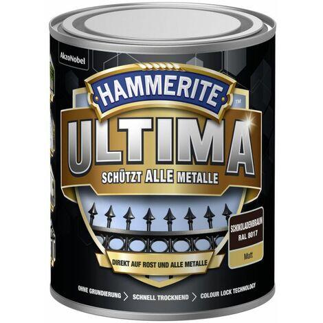 HAMMERITE Metallschutz-Lack ULTIMA Schokoladenbraun Matt 750ml - 5379749