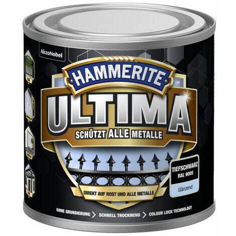 HAMMERITE Metallschutz-Lack ULTIMA Tiefschwarz Glaenzend 250ml - 5379708