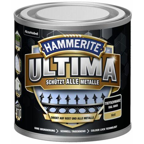HAMMERITE Metallschutz-Lack ULTIMA Tiefschwarz Matt 250ml - 5379743
