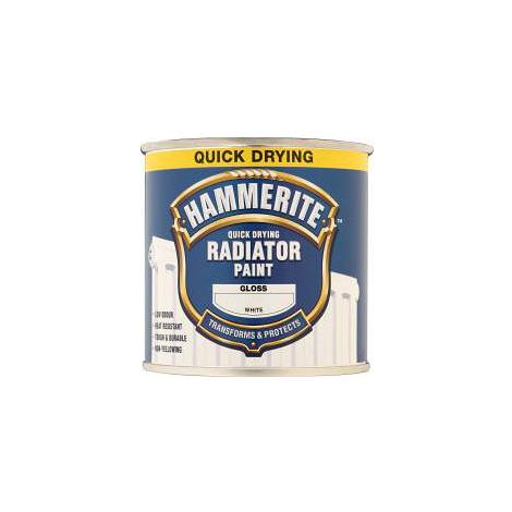 Hammerite Quick Dry Radiator Enamel White 500ml (select finish)