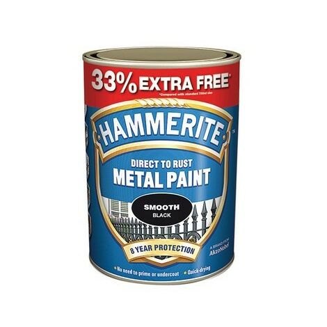 """main image of """"Hammerite SFS750AV Direct to Rust Smooth Finish Metal Paint Silver 750ml + 33%"""""""
