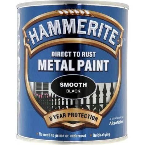 Hammerite Smooth Direct to Rust 750ml Black