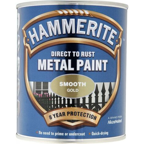 """main image of """"Hammerite Smooth Direct to Rust 750ml Gold"""""""