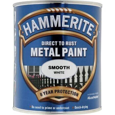 Hammerite Smooth Direct to Rust 750ml White