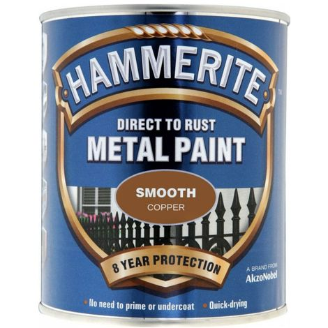 """main image of """"HAMMERITE Direct To Rust Metal Paint - Smooth Copper - 250ml - 5092932"""""""