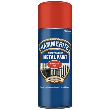 Hammerite Smooth Finish Metal Paint 400ml Aerosol (select colour)