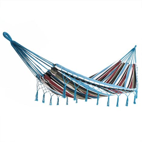 """main image of """"Hammock Camping Garden 300kg DETEX Hanging Swing Travel Day Bed Hiking Canvas"""""""