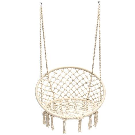 Hammock Chair Armchair Hanging Seat Swing Swing Chair 120Kg Load Garden Leisure Patio Camping Hasaki