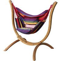 Hammock chair with wooden support Santiago - Multicoloured