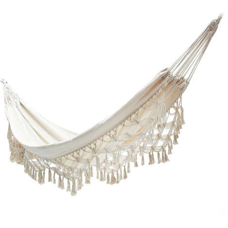 Hammock Chairs Balan??Oire Garden Exterior House White Cotton Rope Morocco Macram¨¦ Hasaki