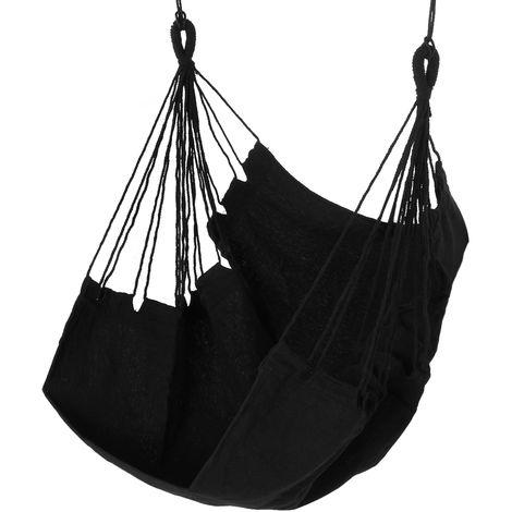 Hammock Hanging Chair Garden Seat 100x130cm Indoor Outdoor Portable