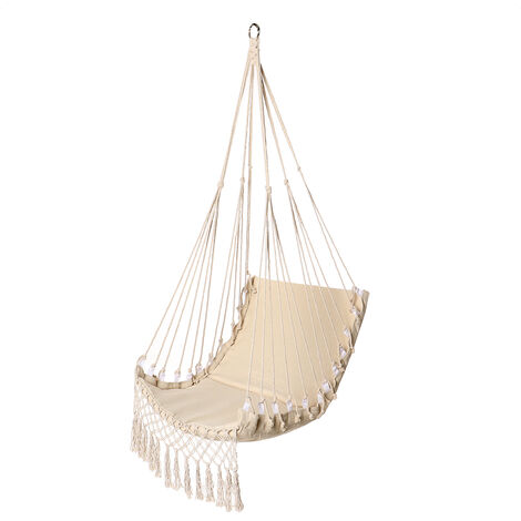 Hammock Hanging Chair - Max Load 150 KG - 100x55cm - White