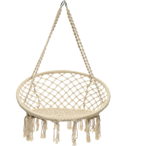 Hammock Hanging Rope Chair Swing Macrame Chair Hammock Seat Garden Indoor Outdoor Hasaki