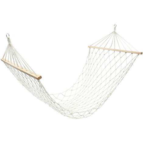 """main image of """"Hammock Single Chair Cotton Rope Swing Outdoor Camping Backyard 265cm 120kg"""""""
