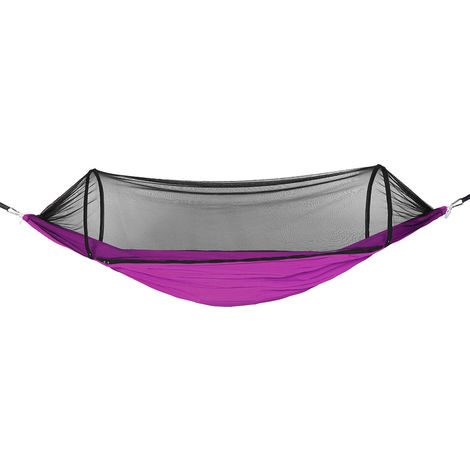 Hammock with mosquito net 270x140cm 400KG Travel Camping Outdoor Garden Hanging Bed