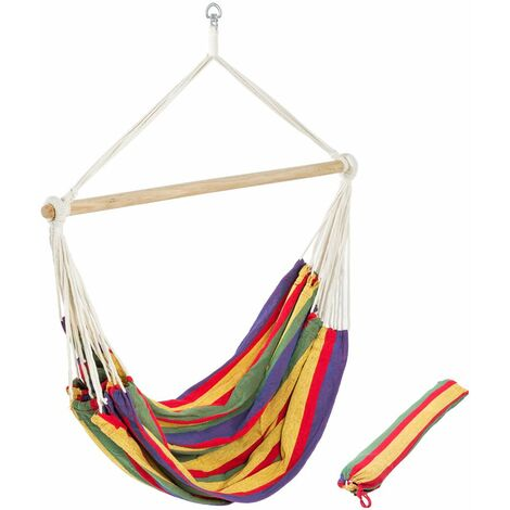 Hammock XXL colourful incl. storage bag - garden hammock, hammock chair, camping hammock - colorful