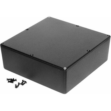Hammond 1590FBK Diecast Enclosure Black (187.5 x 187.5 x 67mm)