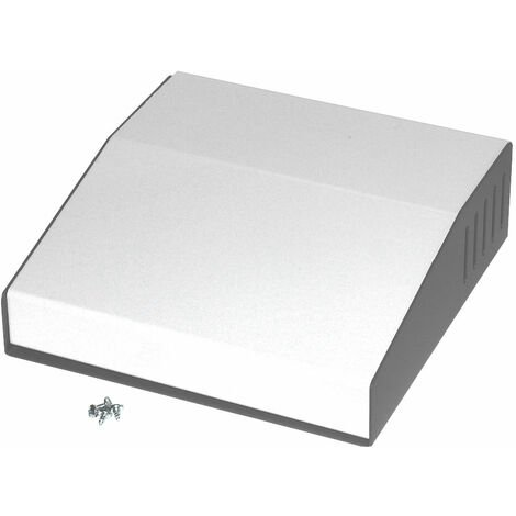 Hammond 500-0930 Sloped Enclosure 183x180x58/34mm Steel/Aluminium 2-Tone Grey