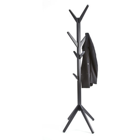 Hampton Coat Stand with 8 Hooks // Black Contemporary Freestanding Storage for Bedroom, Hallway, Bathroom