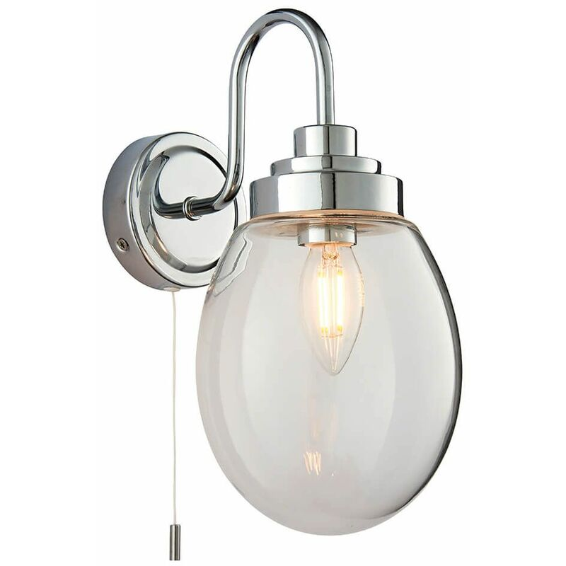 Image of 04-endon - Hampton glass bathroom wall light