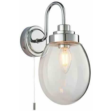 Hampton glass bathroom wall light