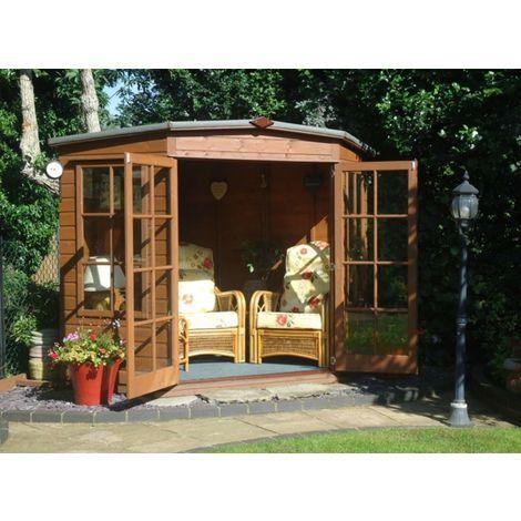 "main image of ""Hampton Shiplap Summerhouse Garden Sun Room Approx 8 x 8 Feet"""