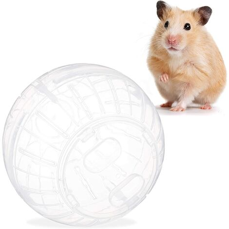 Hamster Ball Rodent Toy Plastic Accessories Hamster Toy Supplies Mouse Ball Golden Silk Bear Crystal Running Ball Rolling Ball Rolling Wheel Sports Ball Running Ball (Transparent)