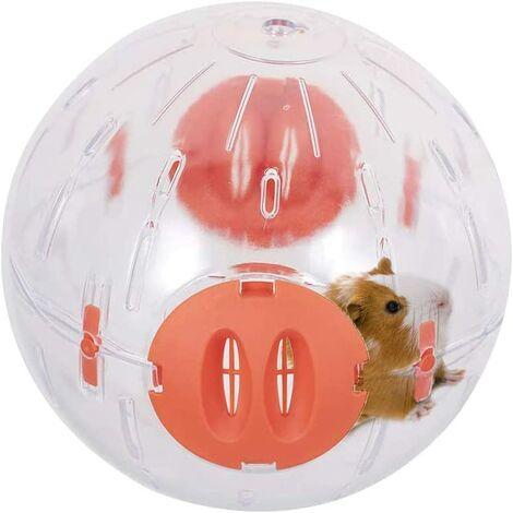 Hamster Ball, Running Hamster Wheel 14 cm Small Pet Plastic Cute Sports Ball Golden Shih Tzu Bear Jogging Wheel Toy soulage l'ennui et augmente la sensation ;activité