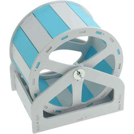 Hamster exercise wheel chinchilla guinea pig mouse ferret gerbil 1pc (white and blue)
