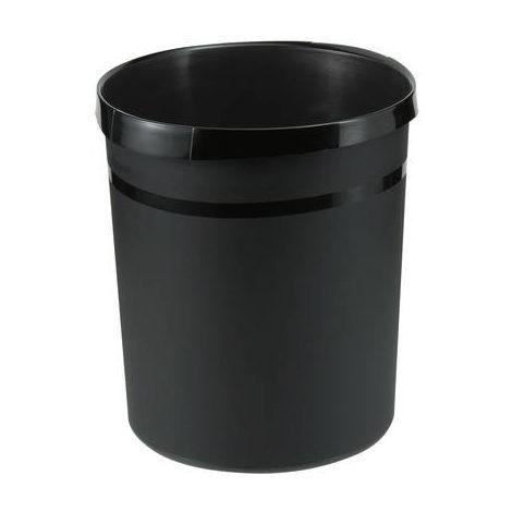 HAN GRIP KARMA Corbeille à papier 18 l polypropylène (Ø x h) 312 mm x 350 mm noir éco 1 pc(s)