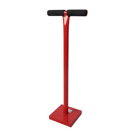 Hand Tamper for Soil Compaction 11.5kg made of Steel with 20x20cm Surface and T-Handle