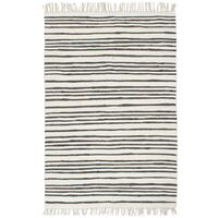 Hand-woven Chindi Rug Cotton 80x160 cm Anthracite and White