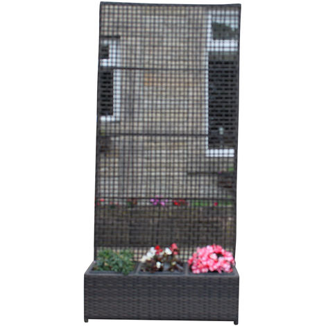 Hand Woven PE Rattan Trellis Planter Flower Pots Garden Furniture