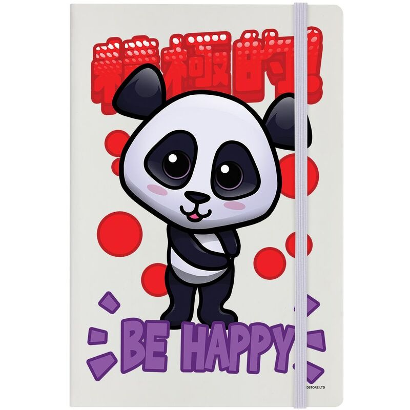 Image of Handa Panda Be Happy A5 Notebook (A5) (Multicoloured)