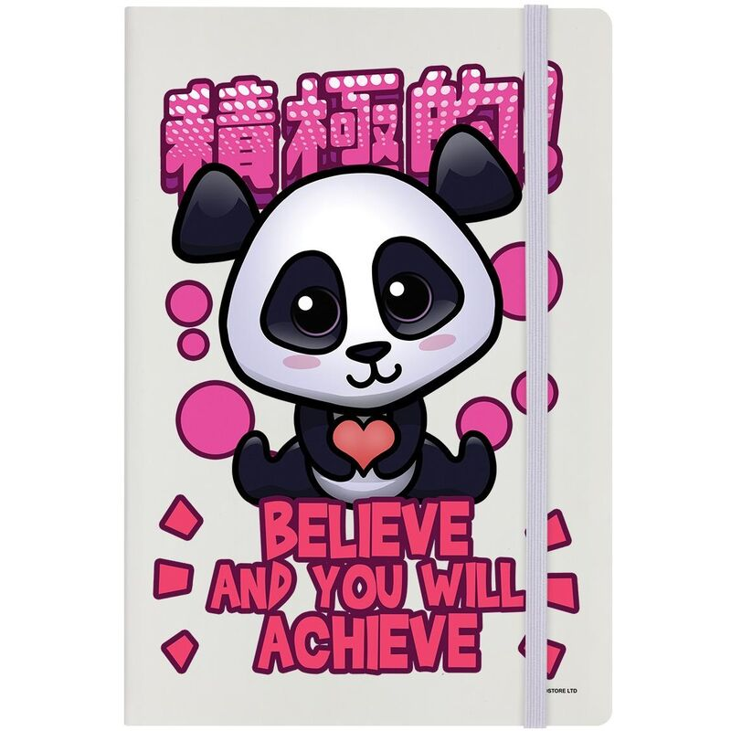 Image of Believe And You Will Achieve Notepad (A5) (Multicoloured) - Handa Panda