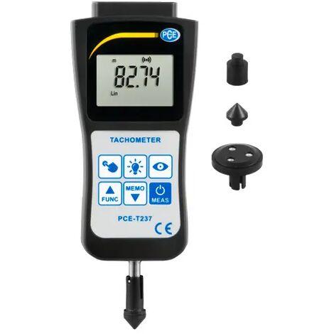 Handdrehzahlmesser PCE-T237 zur berührungslosen und kontaktierenden Drehzahlmessung