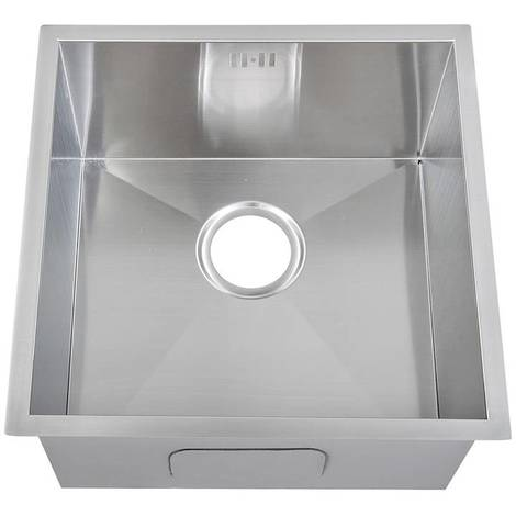 Handemade 1.0 Bowl Satin Stainless Steel Undermount Kitchen Sink 44 x 44cm DS006