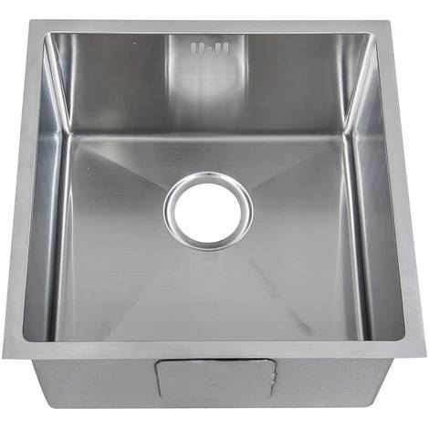Handemade 1.0 Bowl Satin Stainless Steel Undermount Kitchen Sink 44 x 44cm DS015