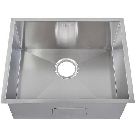 Handemade 1.0 Bowl Satin Stainless Steel Undermount Kitchen Sink 54 x 44cm DS007