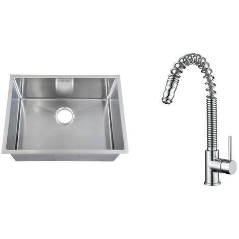 Handemade 1.0 Bowl Stainless Steel Undermount Kitchen Sink & Mixer Tap KST182