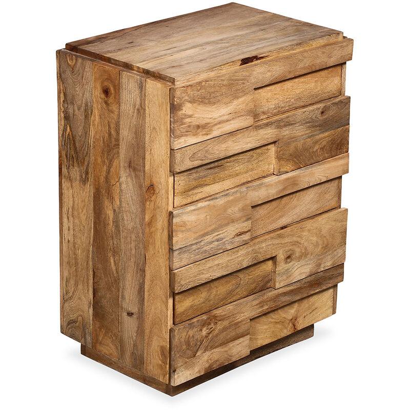 Handgemachte große Kommode aus Holz 5 Schubladen - Jakarta Natural wood - PRIVATEFLOOR