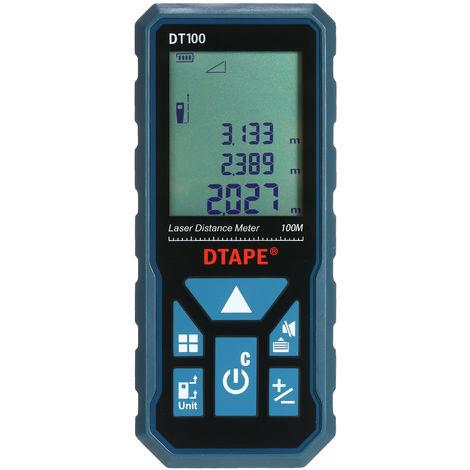 Handheld Digital Laser Distance Meter DT100 100M