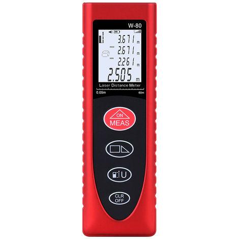 Handheld Digital Laser Distance Meter W-80 80M Red