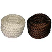 Handlauf Seile, hanffarbig und braun