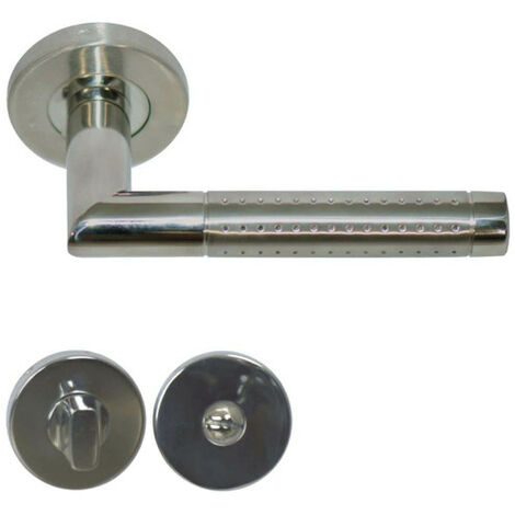 Handles model Barsac with locking rosettes without sight glass - stainless steel 304 bicolour matt glossy