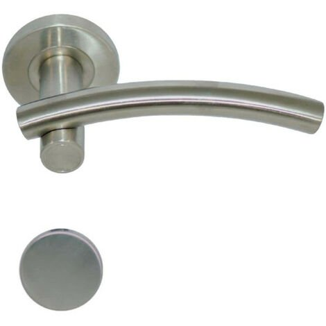 Handles model Leognan with round blind roses - stainless steel 304 brushed matt x2