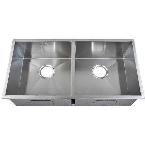 Handmade 2 Bowl Satin Stainless Steel Inset Kitchen Sink 86.5 x 44cm DS014