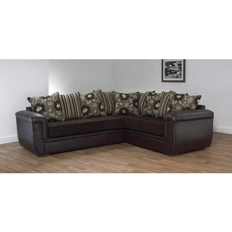 Handmade Quality Fabric Corner Sofa | 12 month warranty | DesignerSofas4U